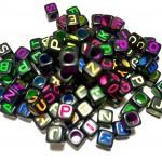 "Бусины-кубики ""Alphabet Beads"""