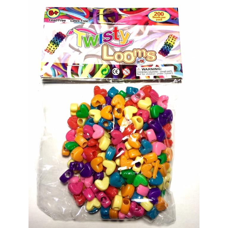 Бусины конфетные сердечки Twisty Looms