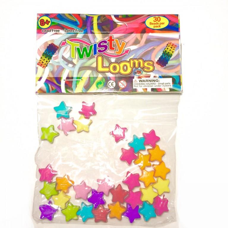 Бусины звездочки Twisty Looms