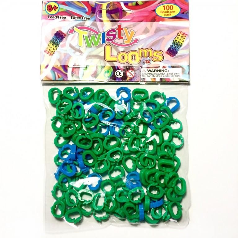 G-образные клипсы для плетения браслетов из резинок