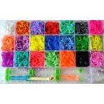 Набор для плетения из резинок Loom Bands (кейс, 4400 ярких резинок)