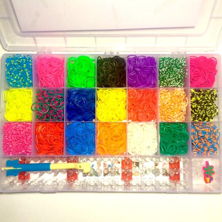 Французский большой набор для плетения из резинок Kit de Creation de Bracelets (5300 резинок)
