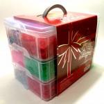 """Трехэтажный набор для плетения """"Krazy"""" (трехъярусный кейс,10000 резинок)"""