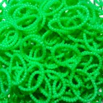 Рифленые объемные резинки для плетения браслетов (600 шт, цвет зеленый)