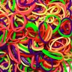 Резинки для плетения браслетов с фруктовым запахом (1000 шт, цвет ассорти)