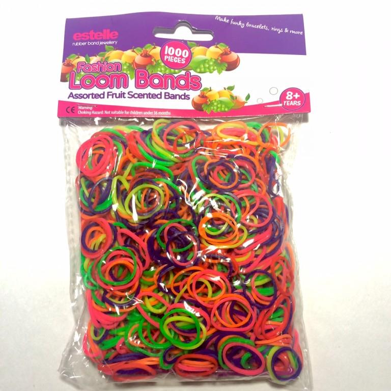 Резинки для плетения браслетов ароматизированные с фруктовым ассорти