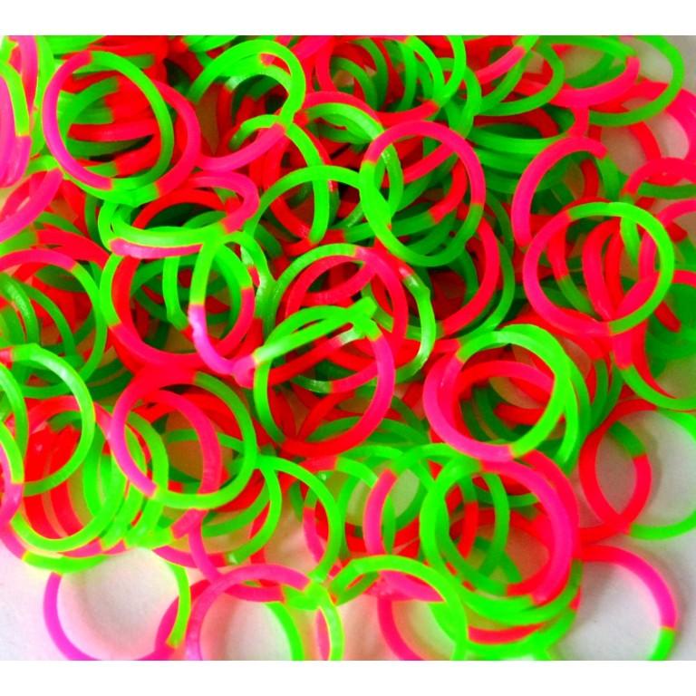Двухцветные резинки для плетения браслетов