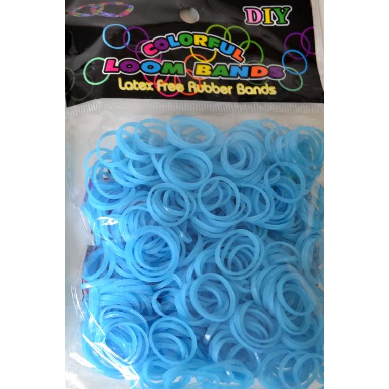 Светящиеся резинки для плетения браслетов (цвет голубой)