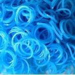 Резинки для плетения браслетов светящиеся (300 шт, цвет голубой)