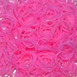 Резинки для плетения браслетов светящиеся (300 шт, цвет розовый)