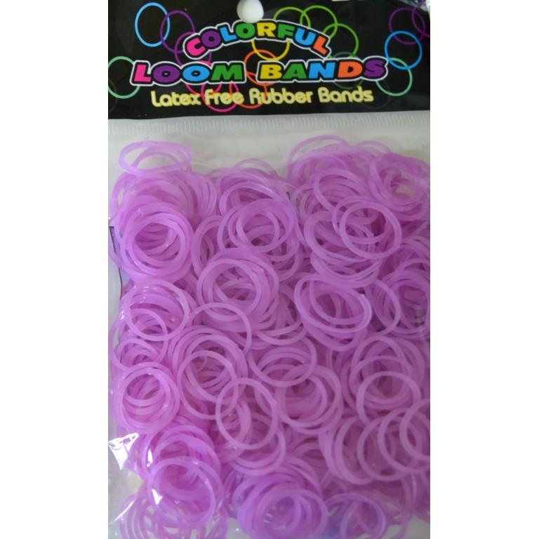 Светящиеся резинки для плетения браслетов (цвет фиолетовый, 300 штук)