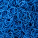 Резинки для плетения браслетов Loom Bands (600 шт, цвет голубой)