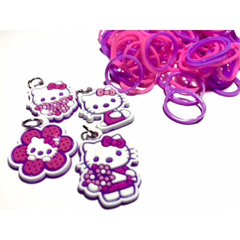 Резинки для плетения браслетов Hello Kitty