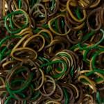 Резинки для плетения браслетов Loom Bands (600 шт, цвет хаки)