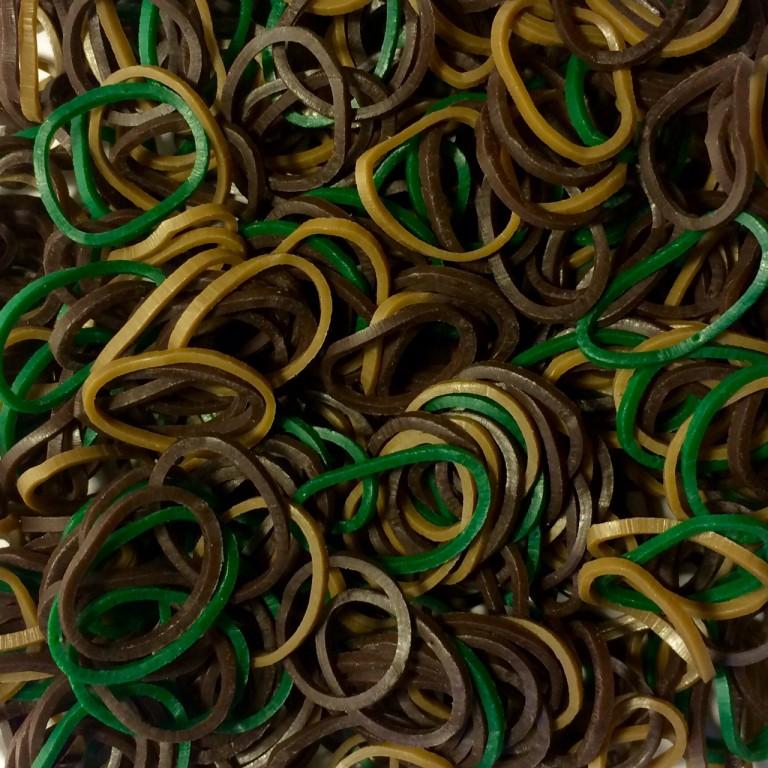 Цветные резинки для плетения браслетов камуфляж