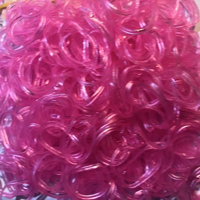 Резинки для плетения браслетов 1800 штук, 6 цветов