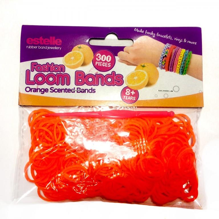 Резинки для плетения браслетов ароматизированные (оранжевый цвет, аромат апельсин)