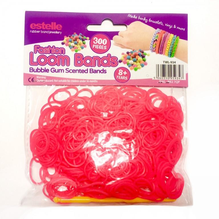 Резинки для плетения браслетов ароматизированные с запахом жвачки